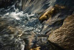 Detail of blurred ripples in the river stock photos
