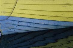 Detail of a boat. On a river with reflection Stock Photography