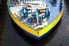 Detail of boat for inland water Royalty Free Stock Image