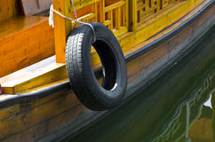 The detail of a boat in the lake. A boat in China,with traditional element Stock Images