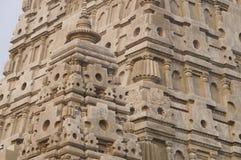 Detail of Bodh Gaya pagoda at Wat Chong Kham , Lampang province,. Thailand build models from India Stock Photos