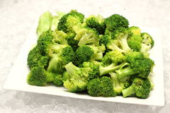 Detail of boiled broccoli vegetable Royalty Free Stock Photography