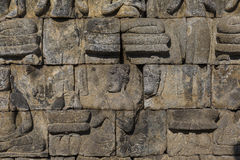 Detail from Borobudur temple at Central Java in Indonesia Royalty Free Stock Images