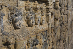 Detail from Borobudur temple at Central Java in Indonesia Stock Image