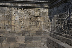 Detail from Borobudur temple at Central Java in Indonesia Royalty Free Stock Photos