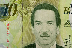 Detail of 10 Botswana Pula banknote Royalty Free Stock Photography
