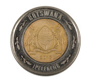 Detail of Botswana Pula coin Royalty Free Stock Photography
