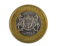 Detail of Botswana Pula coin Royalty Free Stock Image