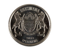 Detail of Botswana Pula thebe coin Stock Photography