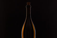 Detail of bottle with red wine Stock Photography