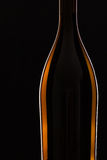 Detail of bottle with red wine Stock Photos
