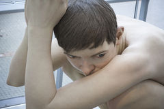 Detail of Boy Aros museum Royalty Free Stock Image