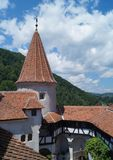 Detail of the Bran Castle, also know as Dracula`s Castle, Brasov, Transylvania, Romania Royalty Free Stock Photography