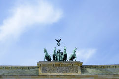Detail of Brandenburg Gate in Berlin. Germany stock photos