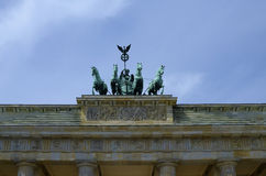 Detail of Brandenburg Gate in Berlin. Germany royalty free stock photos