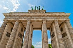 Detail of Brandenburg Gate in Berlin Stock Images