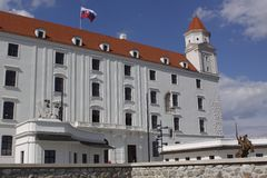 Detail of Bratislava castle Stock Photos