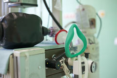 Detail of breathing apparatus on operation room Stock Image