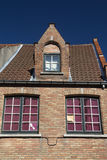 Detail of the brick historic house (Bruges, Belgium) Royalty Free Stock Images