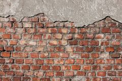Detail of a brick wall. Detail of an old brick wall Royalty Free Stock Photography