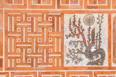 Detail of brick wall decoration Royalty Free Stock Photography