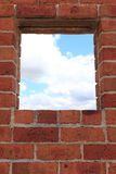 Window in brick wall Stock Image