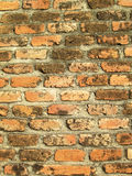 Detail of the brick walls of the old Royalty Free Stock Photos
