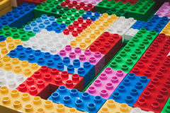 Detail of bricks at Lego Village in Milan, Italy Stock Photography