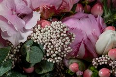 Detail from a Bridal bouquet stock photo