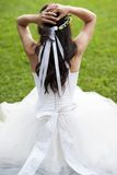 Detail of bridal dress Stock Photography