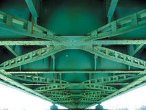 Detail of bridge. Detail of an green iron bridge Stock Photography
