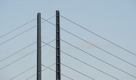 Detail of a bridge in Dusseldorf in Germany Royalty Free Stock Photography
