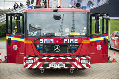 Detail of British fire engine Stock Photos