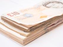 Detail of British Pound  banknotes money Royalty Free Stock Image
