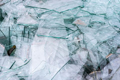 Detail of broken glass Royalty Free Stock Photography