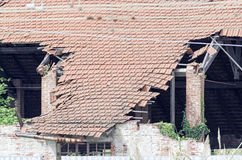Detail of broken roof Stock Photography