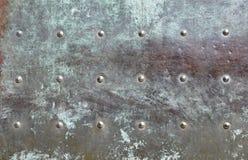 Detail of a bronze door Stock Images