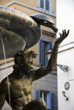 Detail of the bronze and marble fountain in Rome Royalty Free Stock Photography