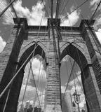 Detail of Brooklyn Bridge, New York City Royalty Free Stock Photo