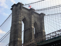 Detail of Brooklyn Bridge tower Royalty Free Stock Images
