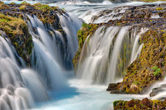 Detail of the Bruarfoss in Iceland Stock Images