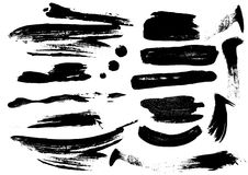 Detail brush paint stroke collection. vector Stock Images