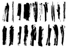 Detail brush paint stroke collection. vector Stock Photos