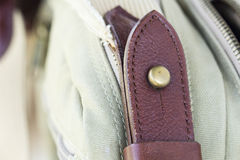 Detail buckle on leather bags Royalty Free Stock Photos