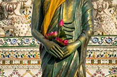 Detail of Buddha's statue Stock Photography