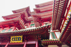 Detail of Buddha Tooth Relic Temple in China Town Singapore. Royalty Free Stock Images