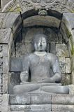 Detail of Buddhist carved relief in Borobudur temple in Yogyakar. Ta, Java, Indonesia Stock Images