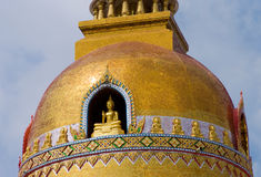 Detail of Buddhist temple in Thailand Royalty Free Stock Image