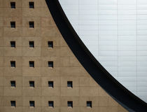 Detail of a building. With windows and steel siding Royalty Free Stock Image