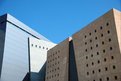 Detail of a building. With blue sky beyond Royalty Free Stock Photography